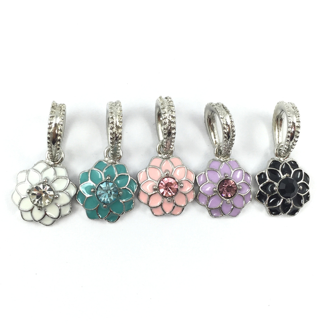 a561f6c58 Blooming Dahlia Pendant Charm European Beads Fit Pandora Charms  Bracelets&Bangles Necklace B00231