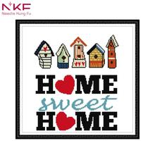 NKF counted cross stitch kits for embroidery decor painting printed on the canvas DMC 11CT 14CT DIY Cross Stitch