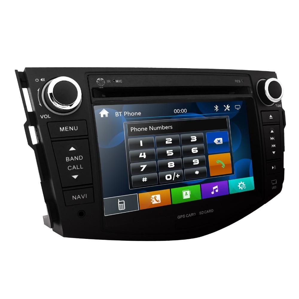 car dvd for toyota RAV4 2006-2012 car radio multimedia player gps  navigation 2din 8 inch car Monitor steering wheel Camera dab+