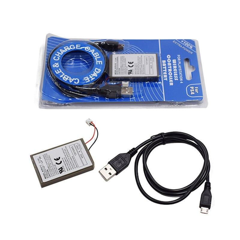 1 pc 2000 mAh Batterie + Chargeur USB Câble Pour Sony Manette PS4 Batterie Dualshock4 contrôleur Sans Fil Rechargeable Batteries
