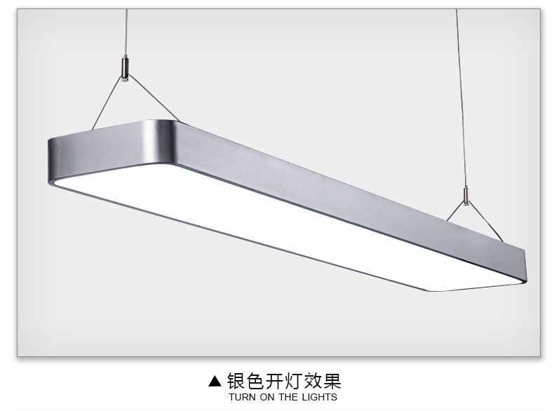 Led 사무실 샹들리에 필렛 긴 스트립 빛 현대 간단한 스트립 t5 직사각형 교수형 라인 램프 긴 천장 램프 led 램프