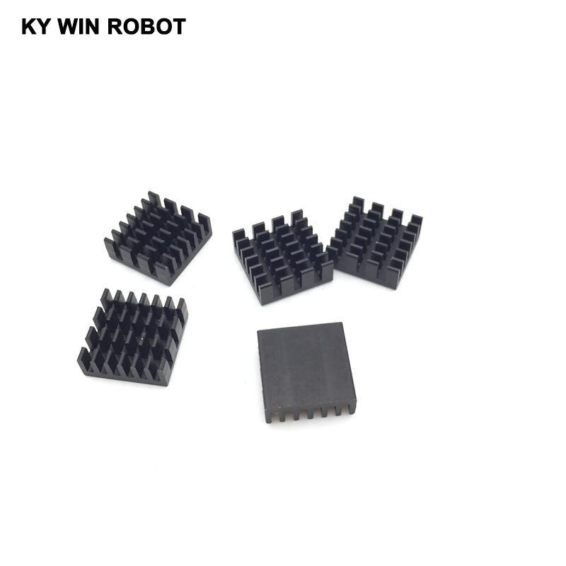5pcs / Lot Aluminum Cooling Heat Sink 14 X 14 X 6MM Black Chipset RAM Heatsink Radiator Routing Cat Dedicated Chip