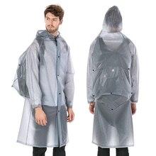 Yuding Raincoat Plastic Thick Rain Coat Women\man Poncho Universal Waterproof Touring Hiking Hooded Schoolbag Raincoats