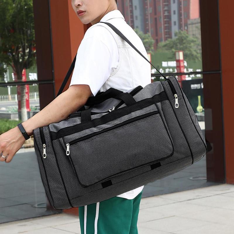 Hot Sports Bag Training Gym Bag Leisure Travel Fitness Handbag Large Capacity Nylon Portable Travel Bag Unisex Sporting Tote