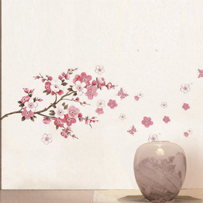 Aliexpress.com : Buy Cherry Blossom Wall Stickers Flowers Tree Branch  Butterfly 3d Vinyl Decals Home Living Room Decoration Wedding Festive  Wallpaper From ... Part 85