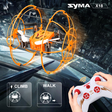 Original Syma X18 4CH 360 Flips 2.4GHz Climb RC Quadcopter Drone 6-Axis Gyro with Net Protective Cover RTF Toys Gifts