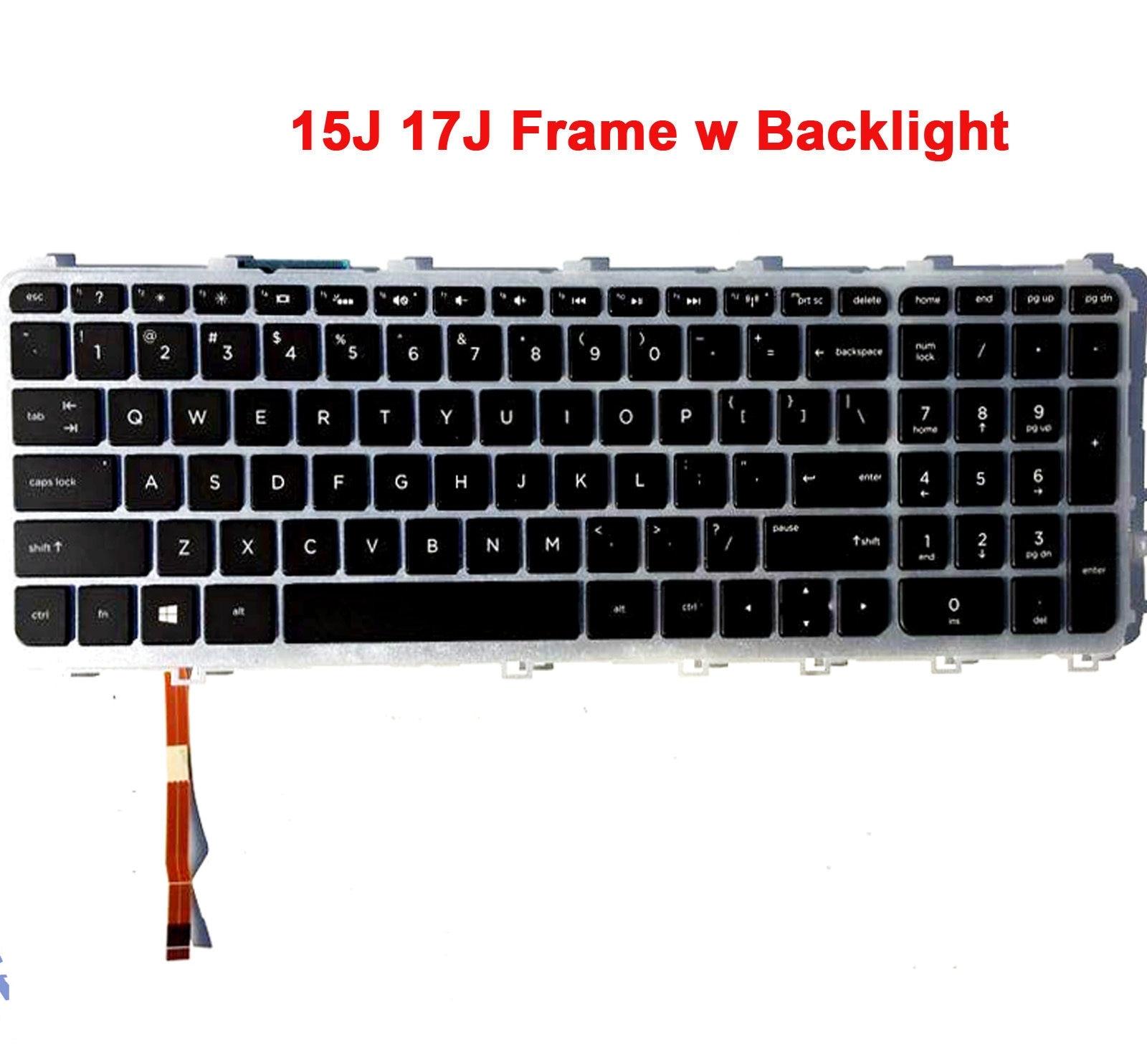 New For HP ENVY 15J 17J M7J 15-J 17-J M7-j US Backlit Laptop Keyboard 720244-001 736685-001 laptop keyboard for hp for envy 17 n013na 17 n003ur 17 n002ne 17 n012tx 17 n013tx 17 n014tx without frame sliver