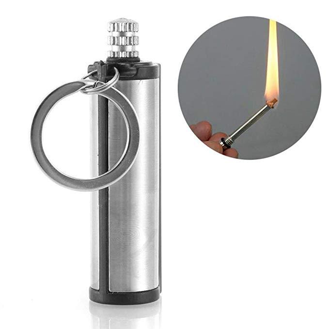 MOONBIFFY Dropship Emergency Fire Starter Flint Match Lighter Metal Outdoor