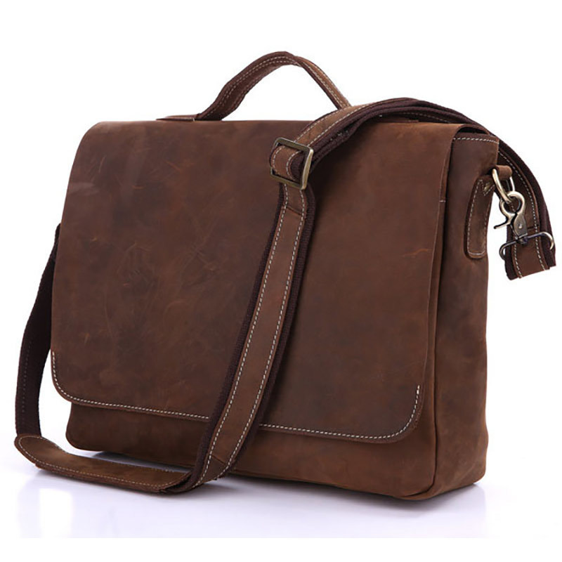 Vintage Genuine Leather Crossbody Shoulder Bag For Men Cowhide Male Business Handbag Briefcase Fit For 13 Inch Laptop PR097108 segal business writing using word processing ibm wordstar edition pr only