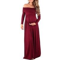 منزل جديد أزياء فستان الأمومة النساء الحوامل التصوير yjsfg ماكسي ثوب الزفاف فساتين حزب طويل الطابق طول أحمر أبيض
