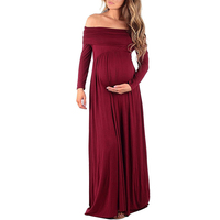 YJSFG HOUSE New Fashion Pregnant Women Photography Dress Maternity Maxi Gown Wedding Party Long Dresses Floor Length Red White