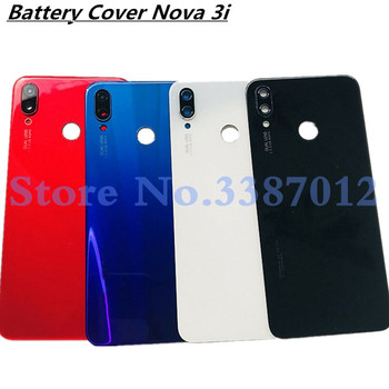 Original 6.3 inches For Huawei P Smart Plus Back Battery Cover Glass Housing Door Case Nova 3i / P Smart+Logo Replacement Parts