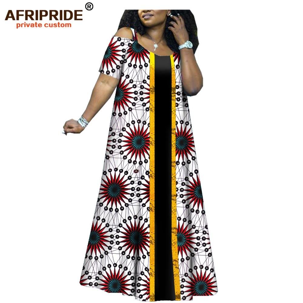 2019 african print dresses for women danshiki clothes african clothing vestidos ankara fabric wax batik AFRIPRIDE
