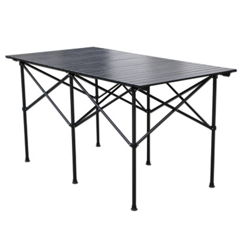2018 Outdoor Folding Table Chair   Camping Aluminium Alloy Picnic Table Waterproof Durable Folding Table Desk For 140*70*70cm