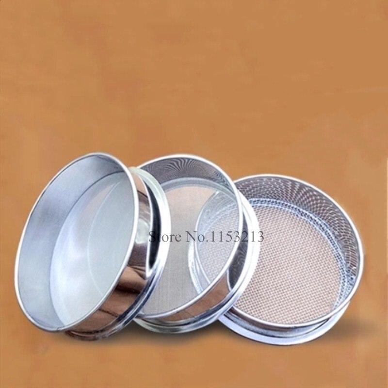 Sample Test Sieve Soybean Rice Grain Sesame Flour Sieve Stainless Steel Filter Mesh Chroming Frame Dia 20cm 12 Mesh - 200 Mesh