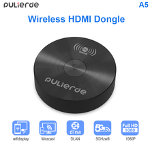 PULIERDE Chromecast Wireless HDMI Dongle Miracast 1080P TV Stick Adapter 2.4GHz 5G Wifi Display Mirror Receiver for ios Android