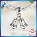 Fashion Winter Collection 925 Sterling Silver Jingle Bells Pendant Charms Fit Bracelet DIY Jewelry