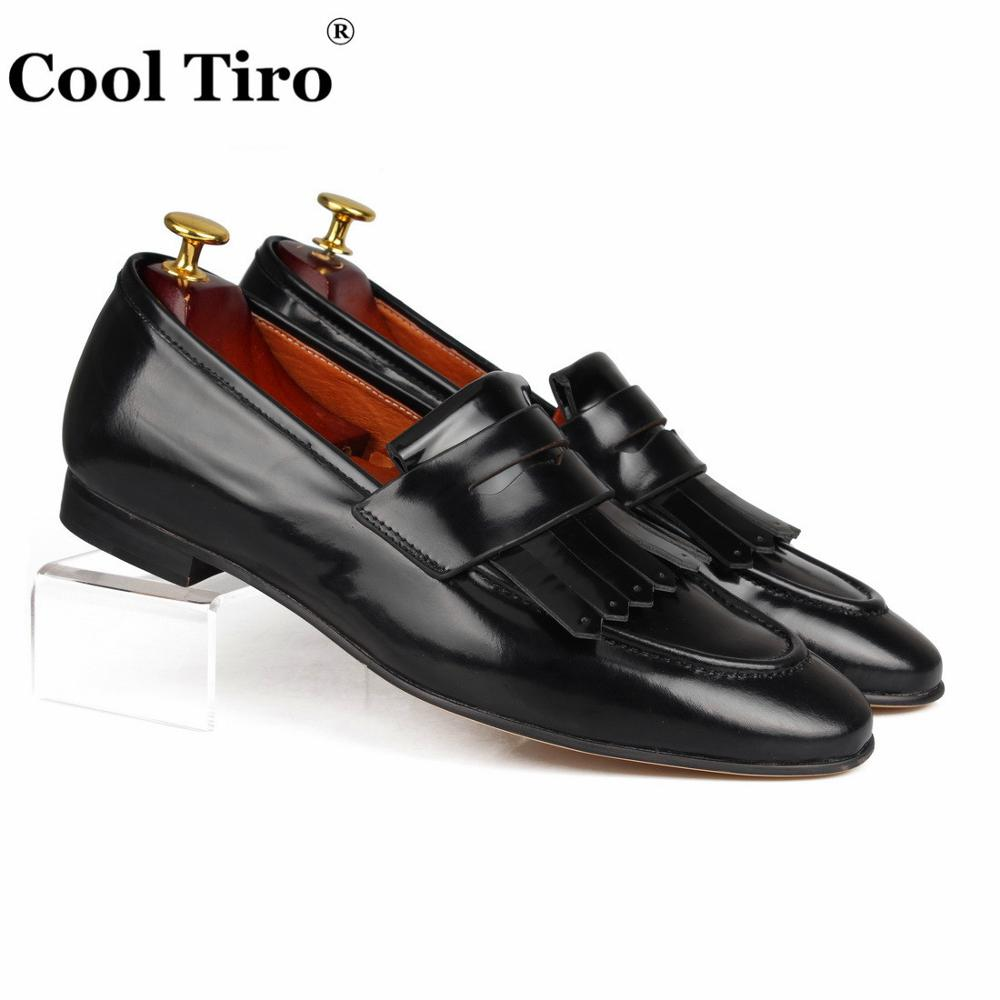 Cool Tiro Leather fringed Loafers Men Moccasins Black Patent leather Slippers Man Flats Wedding Men s