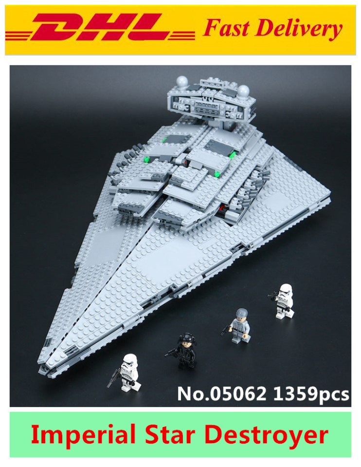 Lepin 05062 Star War Series The Imperial Super Star Destroyer Set Building Blocks Bricks Educational Toys Gift Compatible 75055