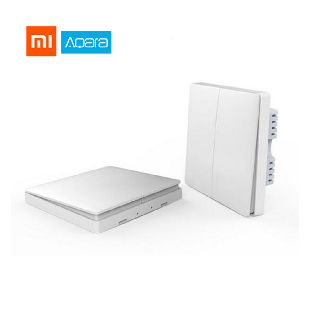 Xiaomi Aqara Smart Home Light Control Without Neutral Single Fire Wire Zero Line ZigBee Wireless Key Wall Switch Remote