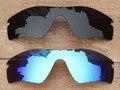 Черный и Голубой Лед 2 Шт. Поляризованных Сменные Линзы Для Радар Путь Солнцезащитные Очки Кадров 100% UVA и UVB Защиты