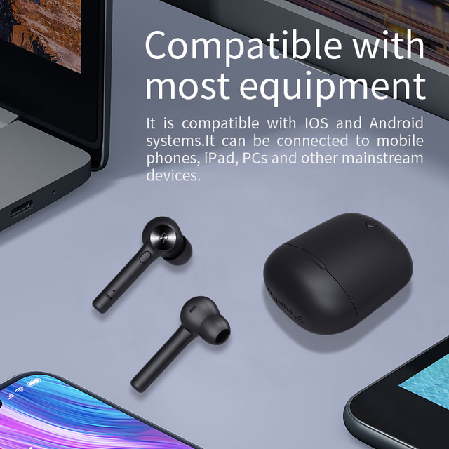 Bluedio Bluetooth earphone for phone sport earbuds headset with charging box built-in microphone 2
