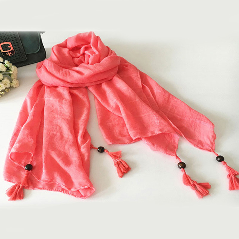 Women Fashion Plain Sequin Tassel Viscose Shawl   Scarf   New Brand Long Korean Solid   Scarves     Wrap   Snood 2019
