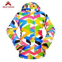 WILD SNOW Women Ski Jacket Waterproof Super Warm Skiing Snow Jacket Female High Quality Winter Snowboard