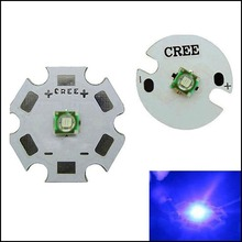 Original 3W Cree XLamp XPE XP-E Blue LED Light Lamp With 16mm/20mm PCB Star Base 90