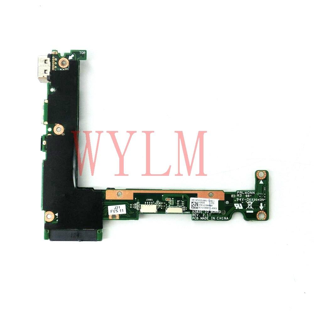 Бесплатная доставка X202E плата питания VGA небольшой совет REV2.1 для ASUS S200 S200E X202 X202E X201EP X201EV X201E Материнская плата ноутбука