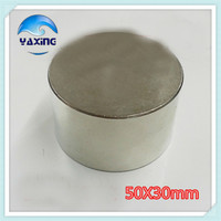 Super Magnets 1PCS Dia 50x30 mm hot round magnet Strong magnets Rare Earth Neodymium Magnet 50x30mm wholesale 50*30mm