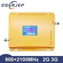 Repetidor GSM 900 2100 de doble banda 2g 3g WCDMA 2100MHz GSM 900mhz 3g W CDMA amplificador de señal de teléfono