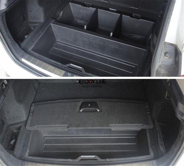 Tronco posterior del coche de cola de almacenamiento cuadro titular de contenedores organizador bandeja de suelo radiante f48 de carga del portador para bmw x1 2016