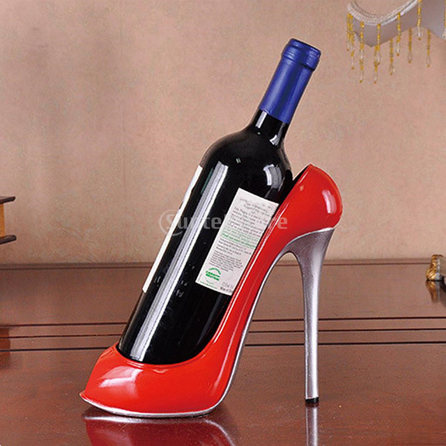 Decorative Wine Bottle Holders Mesmerizing New Hot Fashion Wine Rack High Heel Shelf Bottle Holder Stand Decorating Design