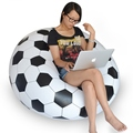 Inflatable Chair Sofa Soccer Football Bean Bag Chair Portable Outdoor Garden Sofa Living Room Furniture Corner Sofa Bean Bags