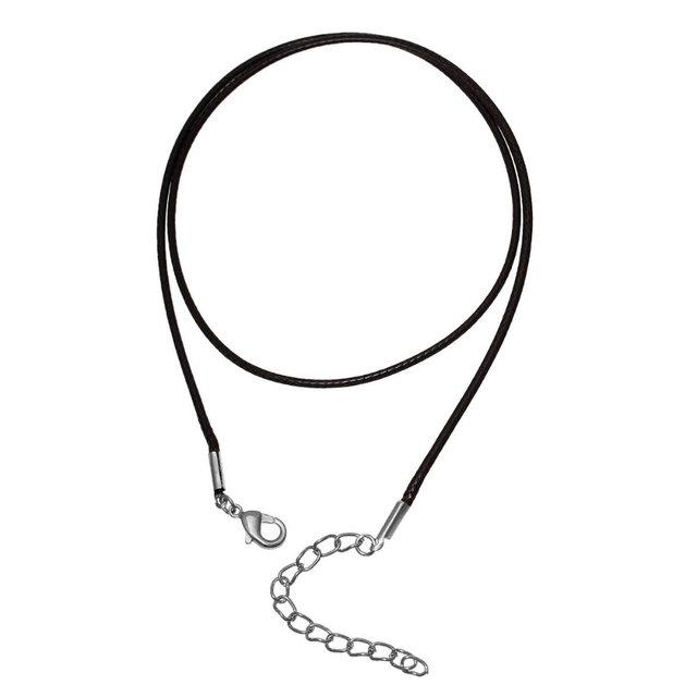"Doreenbeads Wax Rope Chain Necklace Dark Coffee 47cm(18 4/8"") long Thickness:1.5"