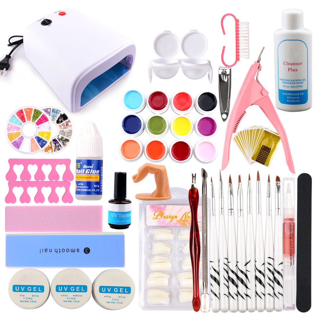 Manicure Set UV Gel Polish Set 36W UV Dryer Lamp For Nail Art Sets UV Brushes Nail Extension Kit UV Gel Kit Manicure Nail SetManicure Set UV Gel Polish Set 36W UV Dryer Lamp For Nail Art Sets UV Brushes Nail Extension Kit UV Gel Kit Manicure Nail Set