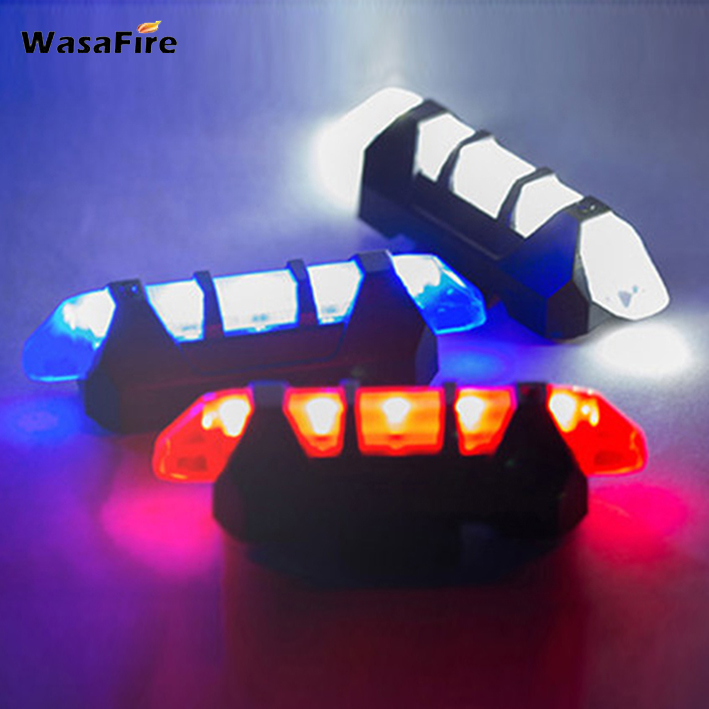 WasaFire Portable USB Rechargeable Bike Bicycle Tail Rear Safety Warning Light Super Bright Taillight Lamp Bike Accessories