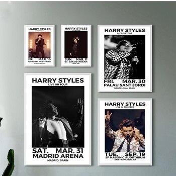 Harry Styles gwiazda muzyki Art Silk plakat z tkaniny drukuje Home dekoracyjne obrazy na ścianę 20x30 cali