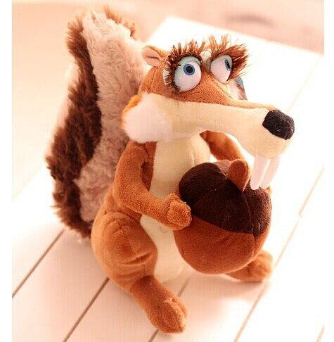 Belle écureuil en peluche poupée simulation femelle écureuil jouet poupées cadeau d'anniversaire environ 45 cm