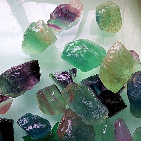 Assez Gros naturelle lâche pierre précieuse brute vert fluorite cristal  XQ14