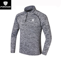 FANNAI Mens Long Sleeves Autumn Running Fitness Moisture Absorption Perspiration Quick Drying Sportswear Outdoor Sportswear