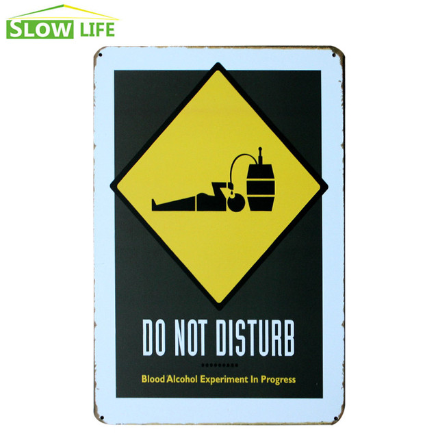 Do Not Disturb Alcohol Metal Tin Sign Wall Decor Tin Sign Vintage ...
