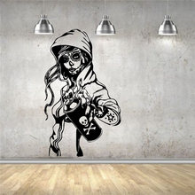 Wall Sticker Mural Decal Vinyl Decor Candy Sugar Skull Graffiti Girl  Cartoon Living Art Decor Wall