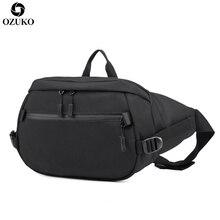 OZUKO New Arrival Fanny Pack Fashion Waist Bag Multifunctional waterproof Crossbody Large Capacity Travel Shoulder Belt