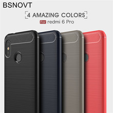 BSNOVT Xiaomi Mi A2 Lite Cases Cover Shockproof Silicone Brushed Phone Back Case For Xiaomi Redmi 6 Pro Funda Xiaomi Mi A2 Lite[