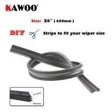 "KAWOO Free Shipping 100pcs/lot Auto Car Vehicle Insert Rubber Strip Wiper Blade (Refill) 6mm Soft 26"" 650mm Car Accessories"