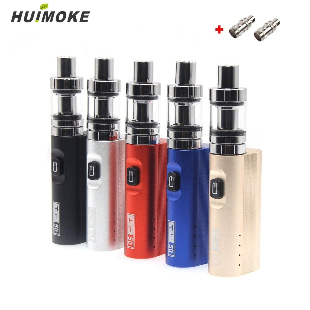 Cigarrillo electrónico eclampsia viral ht50 vape mod kit de caja 2200 mah 0.5ohm Batería 2 ml tanque de HT 50 e-cigarrillo del atomizador del vape