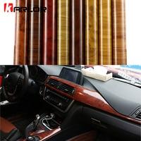 Car Styling Wood Grain Fiber Vinyl Wrap Car Sticker DIY Wrapping Self Adhesive Internal Decoration Wallpaper