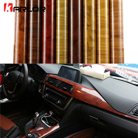 Car Styling Wood Grain Fiber Vinyl Wrap Car Sticker DIY Wrapping Self Adhesive Internal Decoration Wallpaper Furniture Sticker